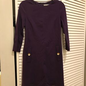 Eliza J dark purple long sleeve dress